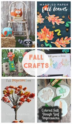 Fall Crafts for Kids - DIY crafts for preschool, class parties and family activities. The kiddos are going to love all of these projects! Rainy Day Crafts, Fall Crafts For Kids, Craft Projects For Kids, Thanksgiving Crafts, Toddler Crafts, Diy For Kids, Holiday Crafts, Kids Crafts, Craft Ideas