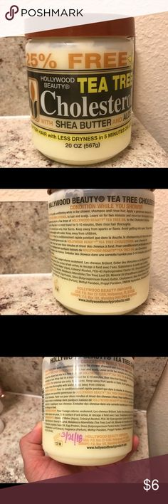 Hollywood Beauty Tea Tree Cholesterol Gently used once. Open date 3/21/18 as shown in picture. Product just wasn't for my hair type. Approximately 95% product available. Hollywood Beauty Other