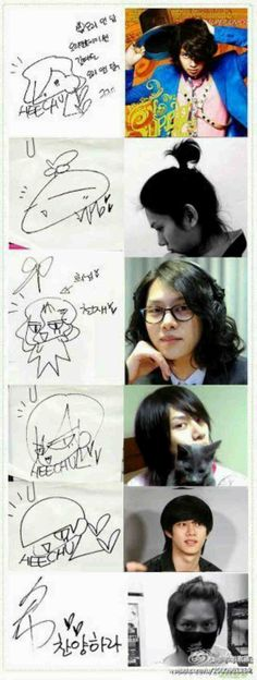 His different signatures.