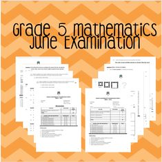 Grade 5 Mathematics June Examinations with Memoranda - Teacha! Comparing Numbers, Number Patterns, Multiplication And Division, Addition And Subtraction, Fractions, Algebra, Mathematics, Sentences, Counting