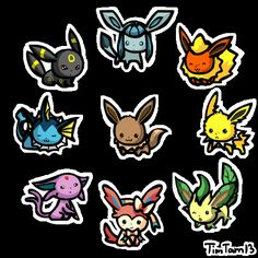 These Are Some Fantastic Animated Chibi Eeveelutions (gif)