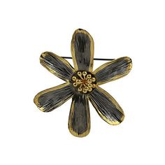 Gold Plated Flower Brooch Cum Pendant Sterling Silver Jewelry.Brooch Size: Length : 2.25 inches, wt- 13 gms.Chain Length: 16 inches, wt-10 gms.Total wt: 23 gms.Handcrafted by the artisans of Jaipur, Rajasthan.All purpose jewelry - casual, formal and party wearThis%2...