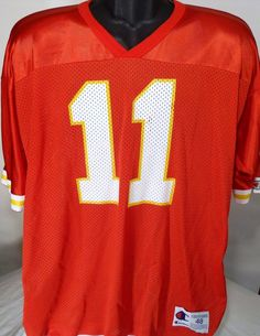 Vintage Kansas City Chiefs Elvis Grbac Mens Size 48 Champion Football Jersey #Champion #KansasCityChiefs
