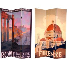 6 ft. Tall Double Sided Rome/Firenze Room Divider - OrientalFurniture.com