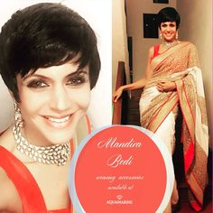 Mandira Bedi looks gorgeous wearing a set of neckpiece and earrings from Aquamarine. Available at all our stores. #aquamarine_jewellery #jewellery #mandirabedi #accessories #love #saree #orange #celebstyle #celebfashion #fashion #aquamarinejewellery #instaglam #jewellery