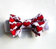 valentines doggy bow tie
