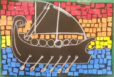 Art With Katie: Art For Kids: Greek (or Roman) Ship Mosaics