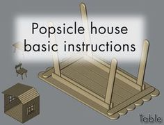 popsicle house, chair, table, lamps, etc. Popsicle Stick Crafts House, Popsicle Crafts, Popsicle Sticks, Craft Stick Crafts, Wood Crafts, Craft Sticks, Sticks Furniture, Pop Stick, Barbie Furniture