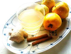 kuechenkraenzchen_quitten_punsch Chutneys, Cocktails, Drinks, Glass Of Milk, Cantaloupe, Smoothies, Homemade, Fruit, Fitness