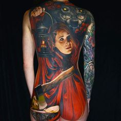 Red Riding Hood back piece by Nikko Hurtado
