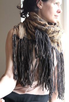 Nuno felted scarf by AureliaLT on Etsy