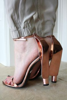 Alexander Wang caped rose gold heels FW2011