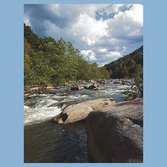 Gorgeous Rustic Appalachian River Scene
