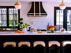 """Jonathan and Drew Scott tackle a very personal project in their new spinoff miniseries, """"Property Brothers at Home: Drew's Honeymoon House. Hm Home, Home Reno, Black Kitchens, Home Kitchens, Coastal Kitchens, Kitchen Black, Dream Kitchens, Property Brothers At Home, Black French Doors"""