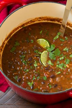 Best Black Bean Soup Recipe – Cooking Classy – Famous Last Words Bean And Bacon Soup, Bean Soup Recipes, Black Bean Soup, Chowder Recipes, Black Beans, Mexican Bean Soup, Drink Recipes, Dinner Recipes, Cooking Recipes