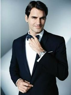 Roger Federer knows how to dress up. G.O.A.T