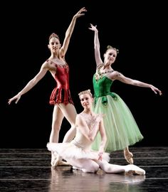 """Ariana Lallone (Rubies), Patricia Barker (Diamonds) and Louise Nadeau (Emeralds) first time Pacific Northwest Ballet performed """"Jewels"""" in Pacific Northwest Ballet, Famous Dancers, Visual And Performing Arts, George Balanchine, Dance Movement, Ballet Photography, Ballet Dancers, Ballerinas, Ballet Beautiful"""