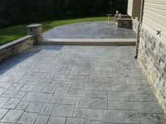 Fantastic Stamped Concrete VS Pavers For Modern Outdoor Design: Comfy Stamped Concrete Vs Pavers For Modern Outdoor Design With Concrete Vs Pavers Patio Stamped Concrete Patio Cost, Stamped Concrete Designs, Diy Concrete Patio, Concrete Patio Designs, Diy Patio, Patio Ideas, Porch Ideas, Firepit Ideas, Outdoor Ideas