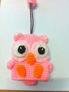 Pink Owl Key cover by MakebyMarisa on Etsy, $12.50 Crochet key cover