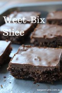 I had a box half full of Weet-Bix that had been sitting around for a while, so I thought it was time I made something with them! This Weet-Bix slice was perfect, because it uses a good amount of Weet-Bix (surely this makes it almost healthy).
