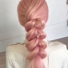 Pink braid tutorial z warkocza Pink braid tutorial Hair Up Styles, Medium Hair Styles, Hair Medium, Medium Brown, Easy Hairstyles For Long Hair, Ponytail Hairstyles, Hairstyles Videos, Updos, Hair Videos