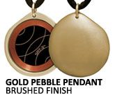 Gold Pebble SRT-3 Q-Link Pendant (Brushed)