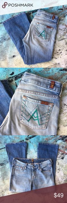 Seven for all mankind A pocket Crop flair Seven for all mankind A pocket Crop flair designer jeans 26 x 23 7 For All Mankind Jeans Ankle & Cropped