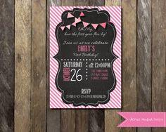 PRINTABLE Chalkboard First Birthday by PinkStarfishDesigns on Etsy, $13.00