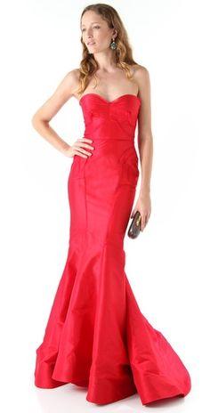 Gorg red gown by Zac Posen
