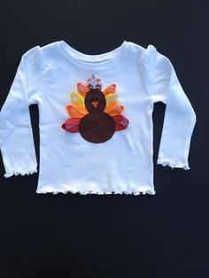 Baby Girl Thanksgiving Outfit  First by SmileLoveDesigns on Etsy, $19.00