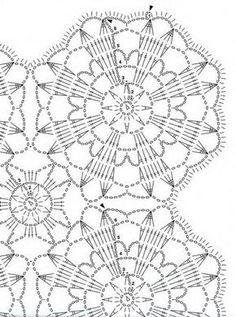 Kira scheme crochet: Scheme crochet no. 1049