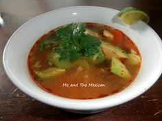 Mexican chicken and vegetable soup.  Perfect for fall!  Secret recipe from actual Mexican restaurant and super easy to make.