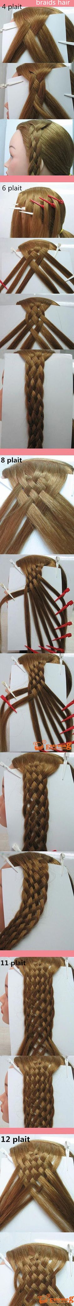 details to make plaits hair. more and more difficulty, but i trust you can make it as the steps.
