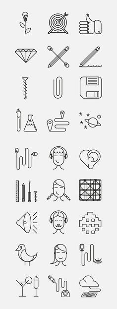 Superegg Icons by Dario Citriniti, via Behance Web Design, Icon Design, Logo Design, Graphic Design, Sketch Notes, Typography, Lettering, Design Graphique, Line Icon