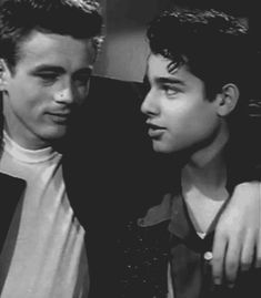 """James Dean and Sal Mineo from """"Rebel without a Cause"""" 1955"""