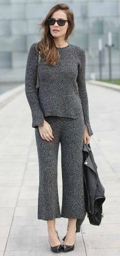 total knit wear looks - Lady Addict Moda Zara, Zara Fashion, Trousers, Pants, Knitwear, Street Style, Style Inspiration, Knitting, Chic