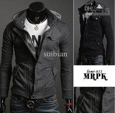 Mens Slim Fit Casual Stylish Outwear Coat 2color H211 Men Hoodies Sweatshirts