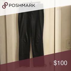 Black leather pants Black leather pants - lightly worn Express Pants Straight Leg