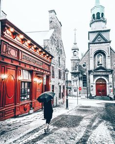 Snowy Old Montreal Old Building Photography, City Photography, Winter Photography, Old Montreal, Montreal Quebec, Quebec City Christmas, Christmas 2019, Moving To Canada, Canada Travel