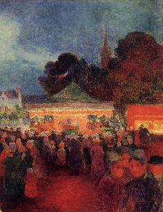 Ferdinand du Puigaudeau (France 1864-1930)- Carnival at Night 1895