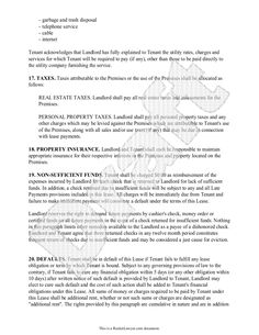 Lease Agreement - Free Rental Agreement Form, Application, Contract