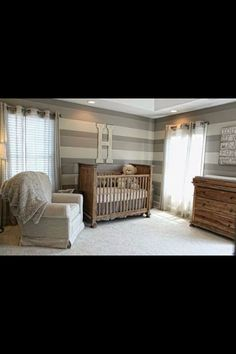 Wow! This has to be the best nursery I've seen. Very neutral and down to earth