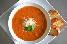 I follow John Legend's wife, model, and sometimes food blogger, Chrissy  Teigen on Instagram, and she's posted at least three or four separate times  (in the span of like a month) about this tomato-basil soup that she's  addicted to making; after her latest round of pictures about it, I made a  mental note to make this soup as soon as I got the chance. Coincidentally,  Christopher and I have been eating a lot of tomato-basil soup lately, when  we go to lunch or something, it's something we…