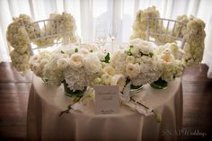 Ilia and Leo's Belle Mer Wedding - Wedding Photographers in RI Snap Weddings Luxe Wedding, Sweetheart Table, Table Decorations, Weddings, Elegant, Classy, Chic, Wedding, Marriage