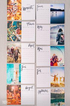 Photo Calendar, Kids Calendar, 2021 Calendar, Monthly Planner Printable, Printable Calendar Template, Kalender Design, Creative Calendar, Design Food, Greeting Card Shops