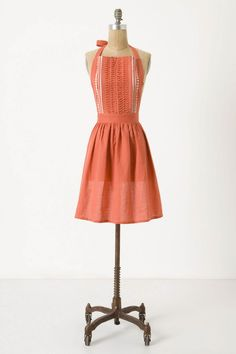 A little voice in my head tells me to stop looking at aprons and do school. But really. It's Anthropologie! I have an excuse.