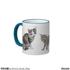 日本の猫 リンガーマグカップ
