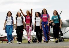 Girls just wanna have fun ;)....sky diving