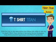 Check out this exclusive review of the TShirt Titan software and learn about the advantages and dis-advantages of this product. -- TShirt Titan --- https://www.youtube.com/watch?v=ETfwnlxEVzo