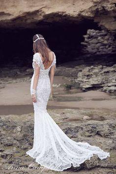 Anna Campbell 'Spirit' Collection 'Sierra' gown // Visit www.modernwedding.com.au to see the entire collection. Photography by 35mm Wedding Photography, Makeup by Melonie Santos, Hair by Momu Hair. #bride #wedding #dress